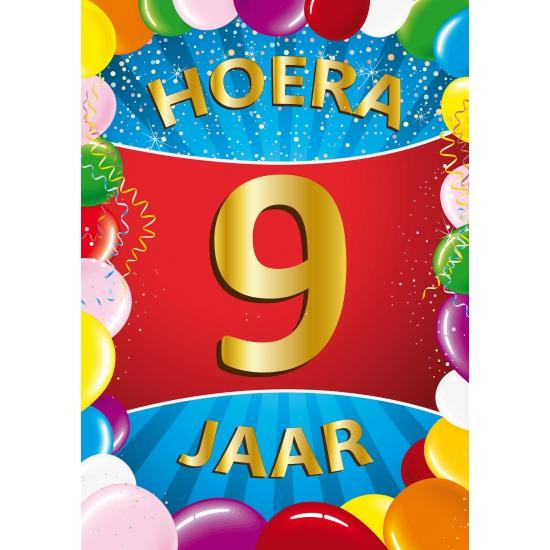 9 jaar verjaardag Mega poster 9 jaar versiering | Fun en Feest 9 jaar verjaardag