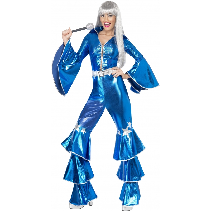 Abba jumpsuit blauw 36-38 (S) Blauw