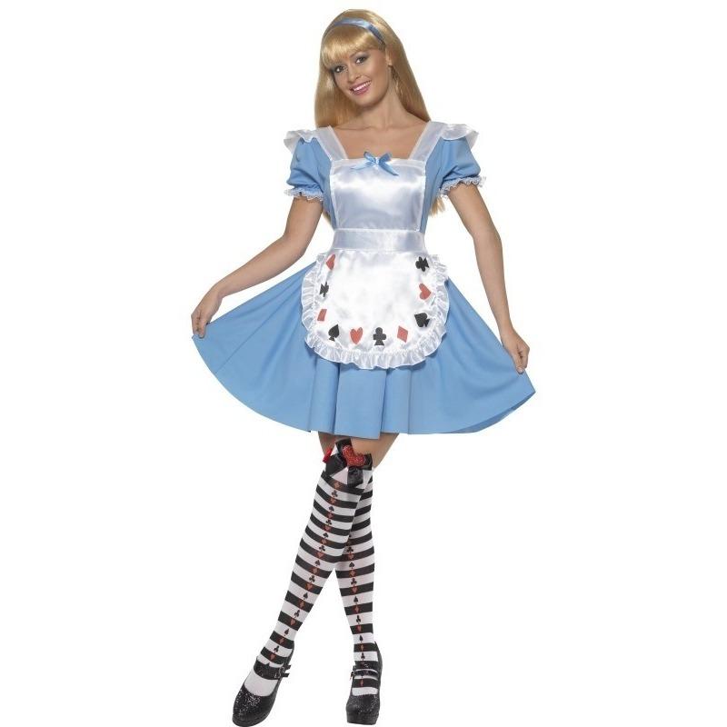Alice verkleedkleding voor dames 44-46 (L) Blauw