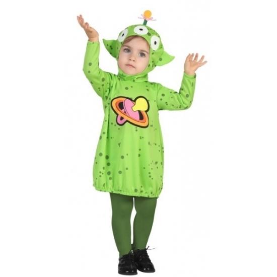 Alien jurkje verkleedkostuumvoor peuters 12-24 maanden (80-92) Groen