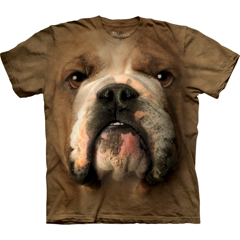 All over print t shirt met Bulldog L Multi