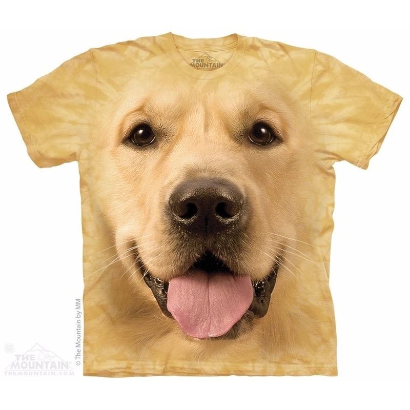 All over print t shirt met Golden Retriever hond S Multi