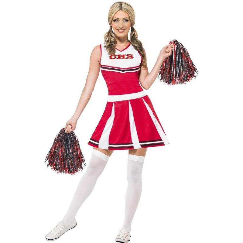 American Cheerleader kostuum dames rood 38-40 (M) Rood