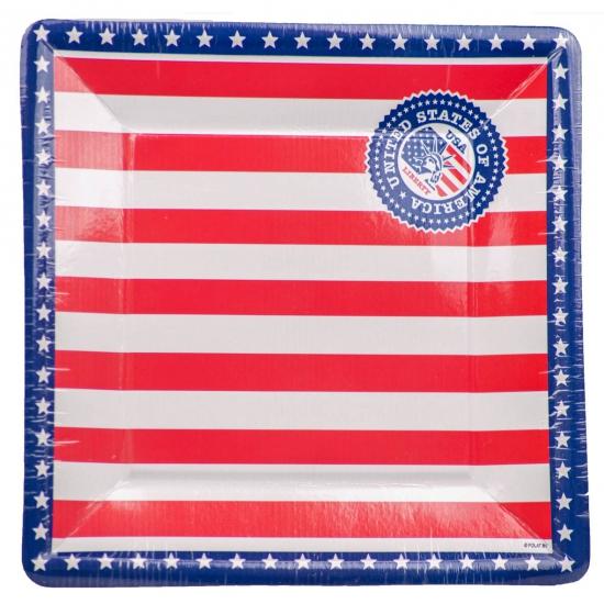 Amerikaanse borden 8 stuks Multi