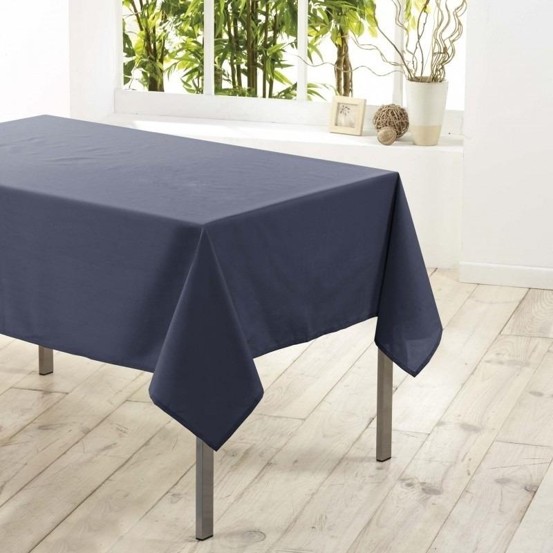Antraciet grijze tafelkleden/tafellakens 140 x 250 cm rechthoekig van stof Grijs