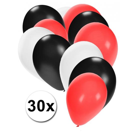 Ballonnen in kleuren zwart wit rood Multi