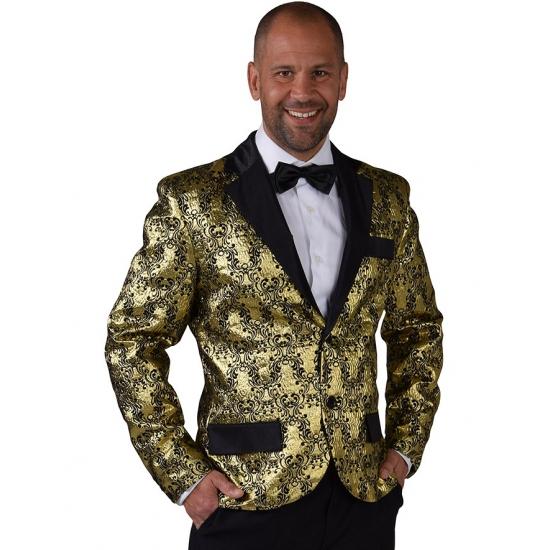Barok colbert jasje goud voor heren 60-62 (XL) Multi