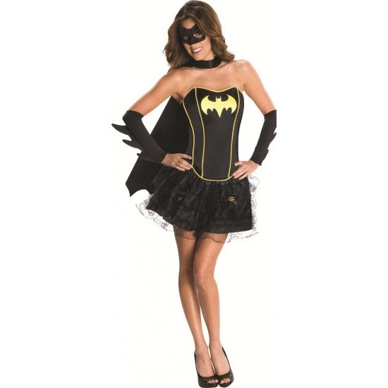 Batman kostuum voor dames L Zwart