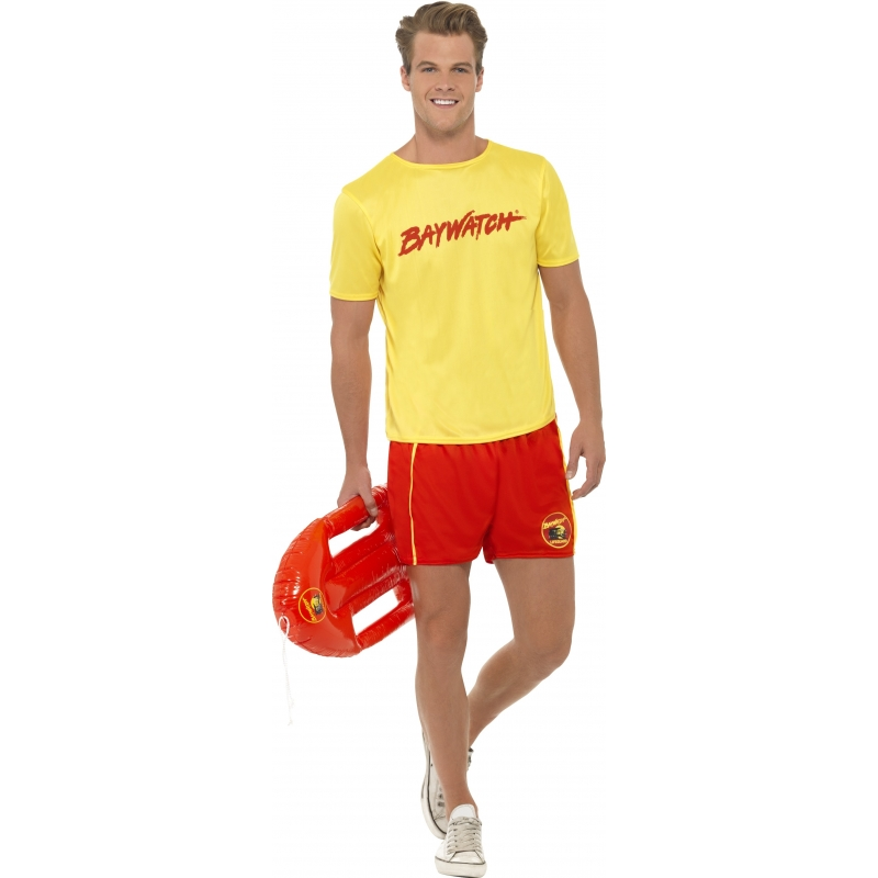 Baywatch kostuum heren 52-54 (L) Multi
