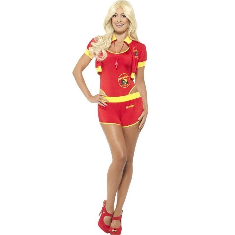 Baywatch verkleedkleding voor dames 32-34 (XS) Rood