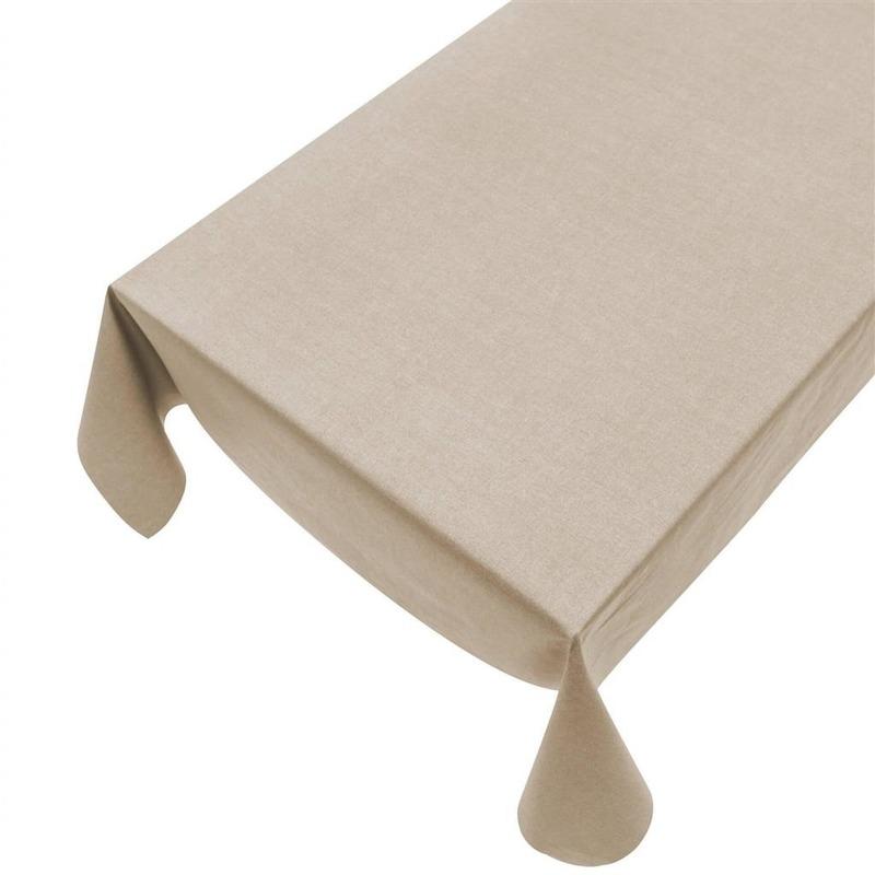 Beige tafelkleden/tafellinnenen beige 140 x 240 cm rechthoekig Beige