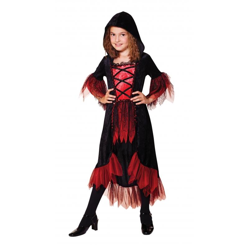 Bella vampierjurkje voor meiden 128 - 6-8 jr Multi