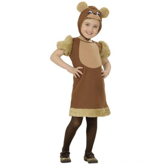 Beren kostuum voor kleuters 110 Bruin