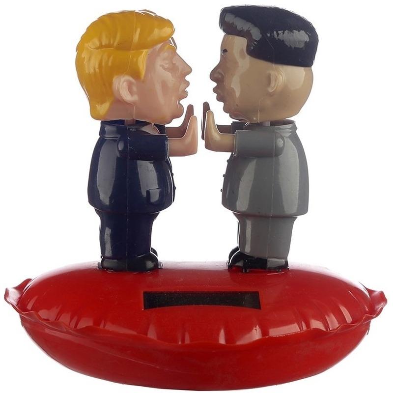 Bewegende Donald Trump en Kim Jung-un solar figuur 11 cm - decoratief-figuur