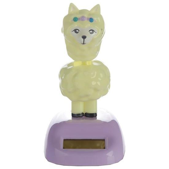 Bewegende lama/alpaca solar figuur 11 cm - decoratief-figuur