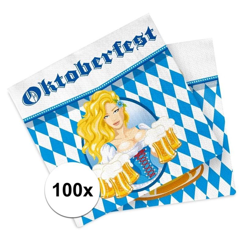 Bierfeest - Oktoberfest servetten 100 stuks -