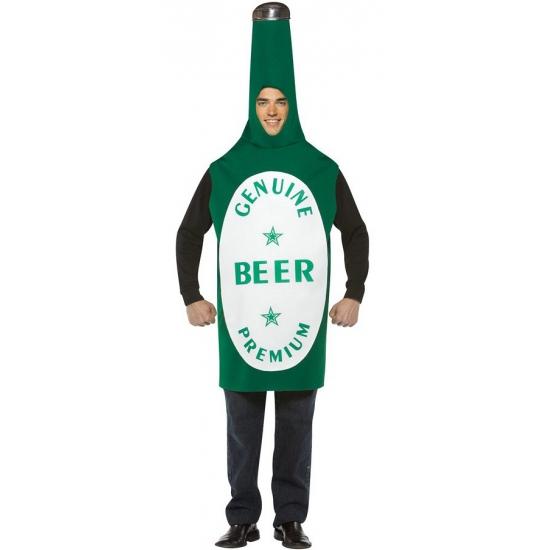 Bierfles kostuum voor heren groen One size Groen