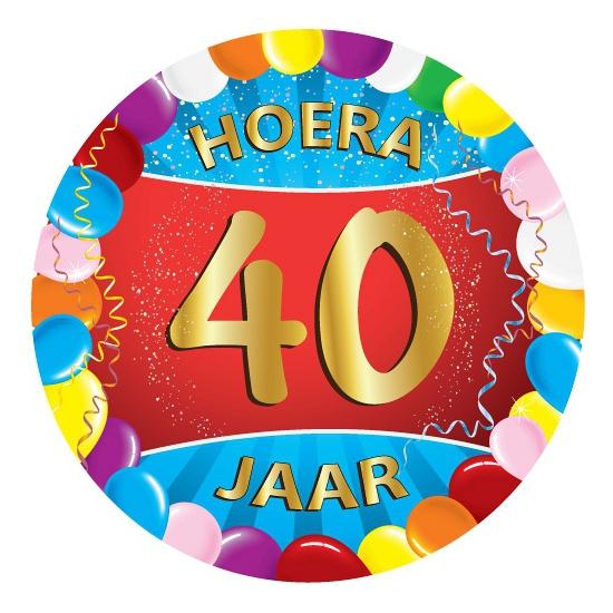 Bierviltjes 40 jaar feestartikelen Multi