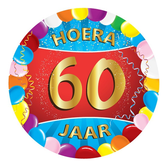 Bierviltjes 60 jaar feestartikelen Multi