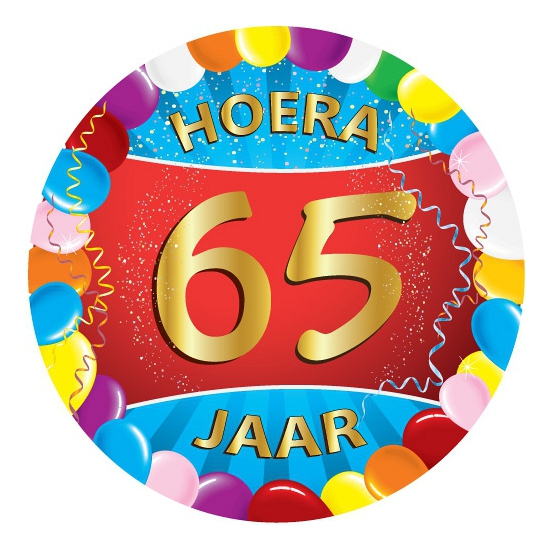 Bierviltjes 65 jaar feestartikelen Multi