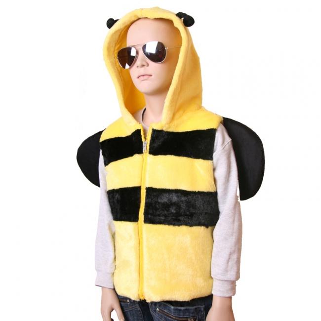 Bijen bodywarmer voor kinderen M/L (4-6 jaar) Multi