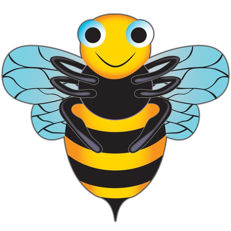 Bijen speel vlieger 76 x 112 cm Multi