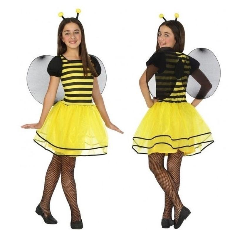Bijen verkleedjurkje voor kinderen 128 (7-9 jaar) Multi