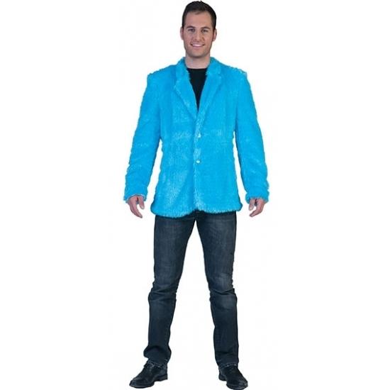 Blauw bontjasje voor heren 52 (M) Blauw