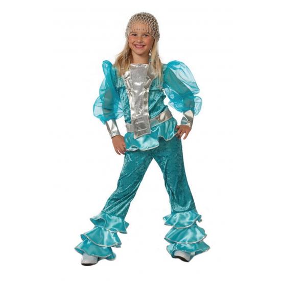 Blauw dancing Queen pakje voor meiden 140 Multi