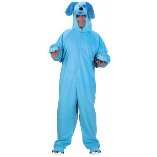 Blauw honden pak One size Blauw