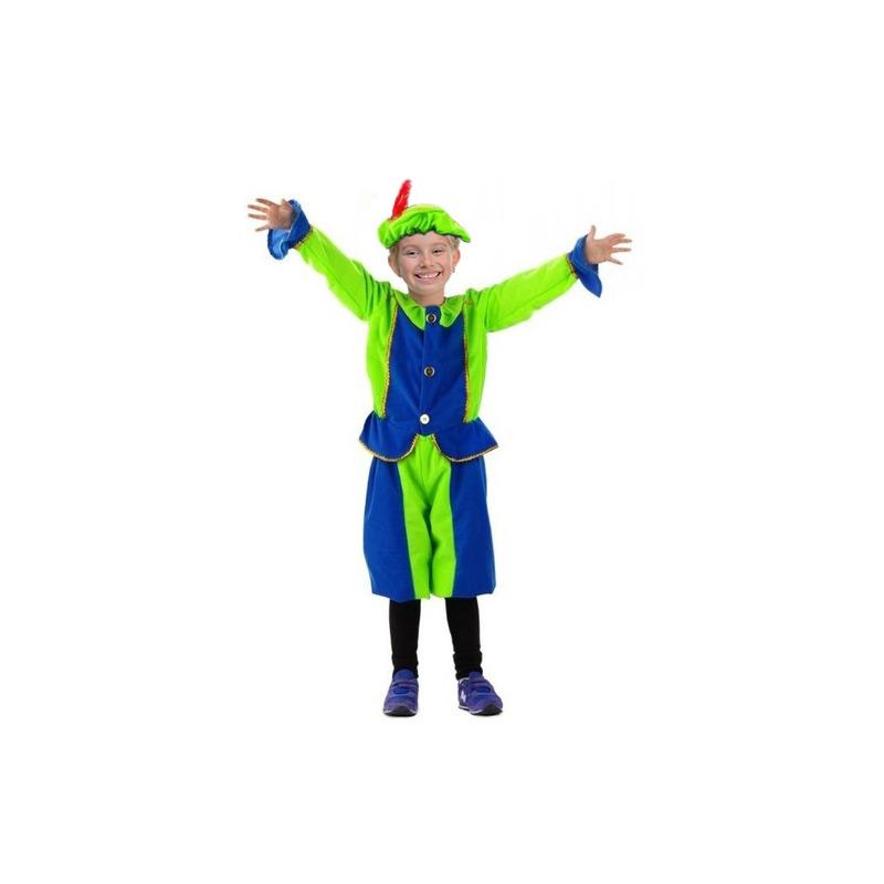 Blauw met groen pietenpak voor kids 3-5 jaar Multi
