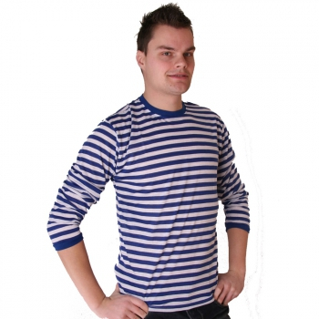 Blauw met wit gestreepte Dorus trui voor heren Multi