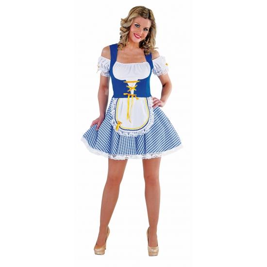 Blauw Oktoberfest jurkje voor dames 36 (S) Multi