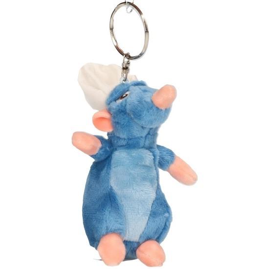 Blauwe Disney Remy Ratatouille muis knuffels 10 cm knuffeldieren sleutelhangers