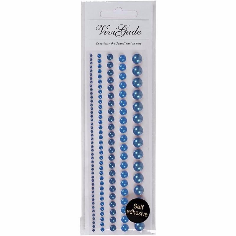 Blauwe plaksteentjes parels 140 stuks Blauw