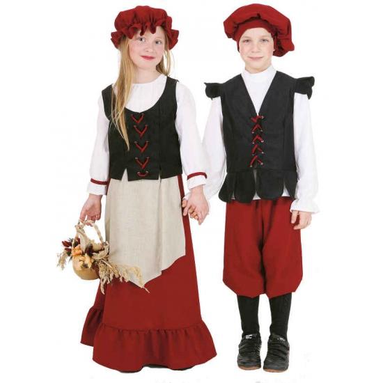 Boerinnen jurk voor meisjes 152 Multi