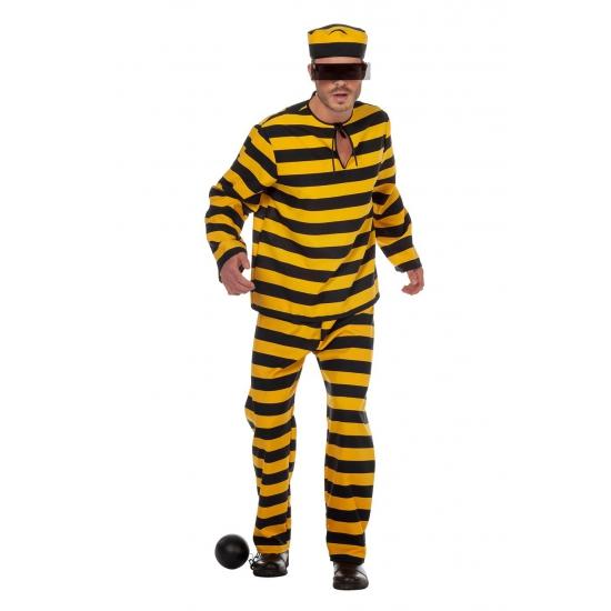 Boevenpak zwart/geel voor heren 52 (L) Multi