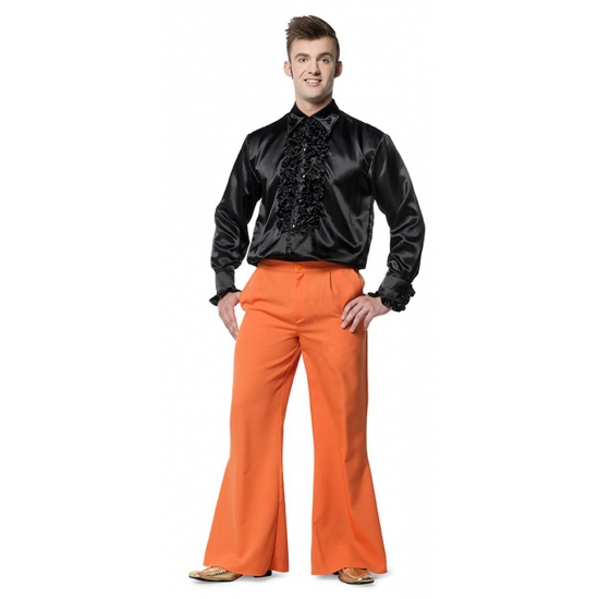 Broek in de kleur oranje wijd uitlopend voor heren 54 (XL) Oranje