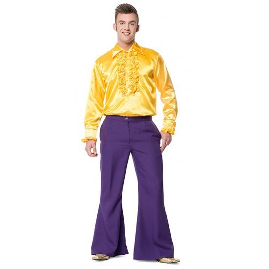 Broek in de kleur paars wijd uitlopend voor heren 56 (2XL) Paars