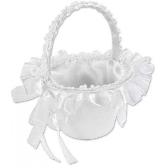 Bruidsmeisje mandje wit Wit