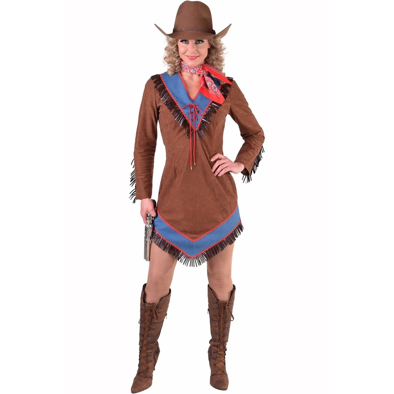 Bruin cowboy jurkje voor dames 40 (L) Bruin