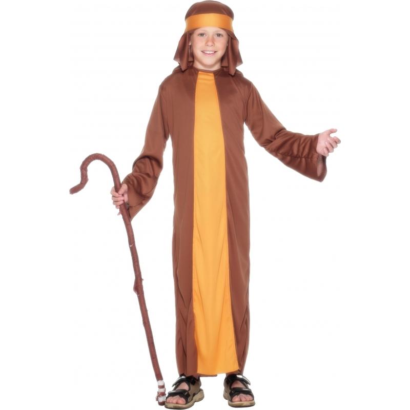 Bruin herders kostuum voor kids 140-152 (9-12 jaar) Bruin