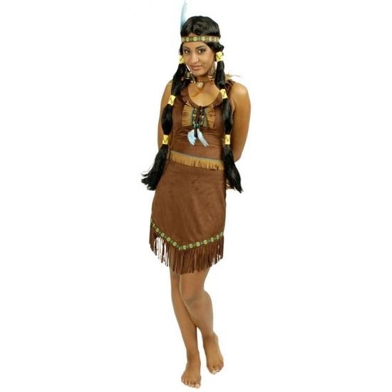 Bruin Indianen kleding jurkje dames 36/38 Multi