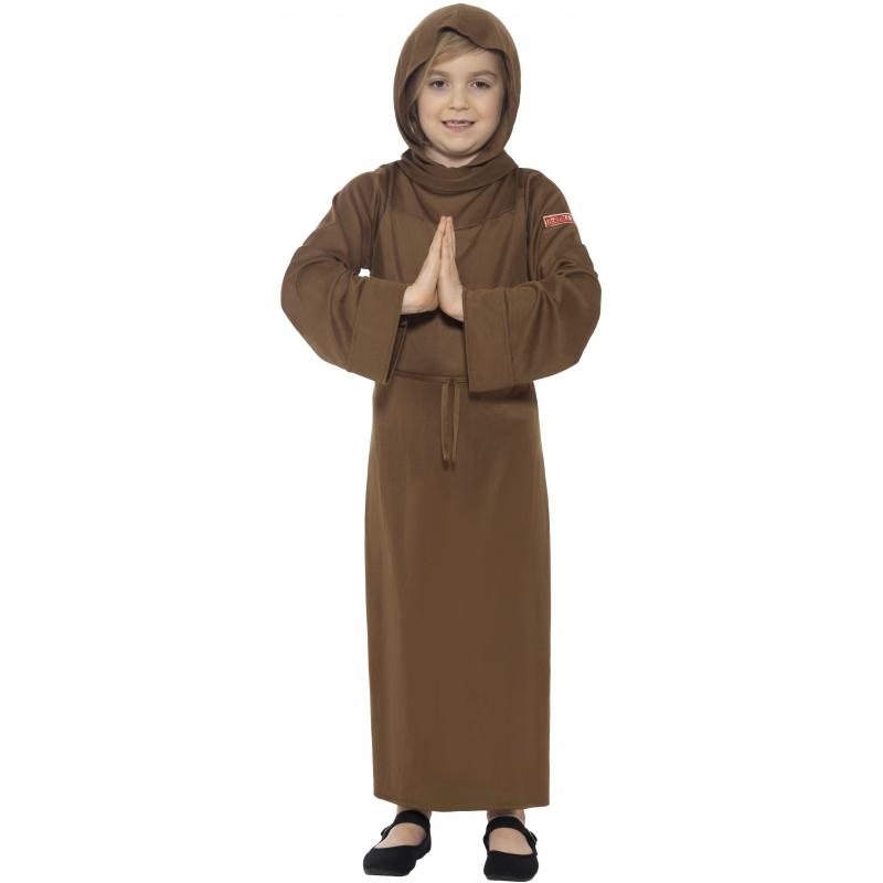 Bruin monnik kostuum voor kinderen 145-158 (10-12 jaar) Bruin