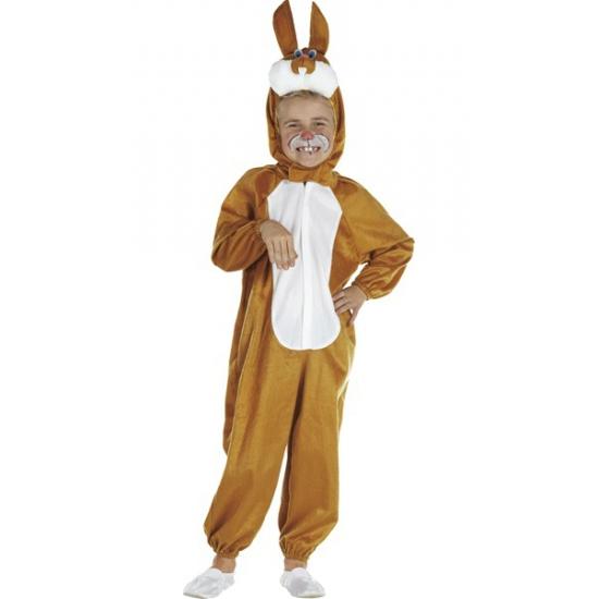 Bruin paashaas kostuum voor kinderen 98 Bruin