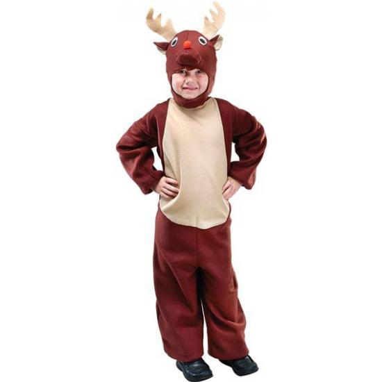 Bruin rendieren kostuum voor kids 140 - 8-10 jr Bruin