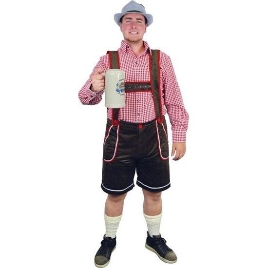 Bruine bierfeest/oktoberfest broek verkleedkleding voor heren XL (EU 54) Bruin