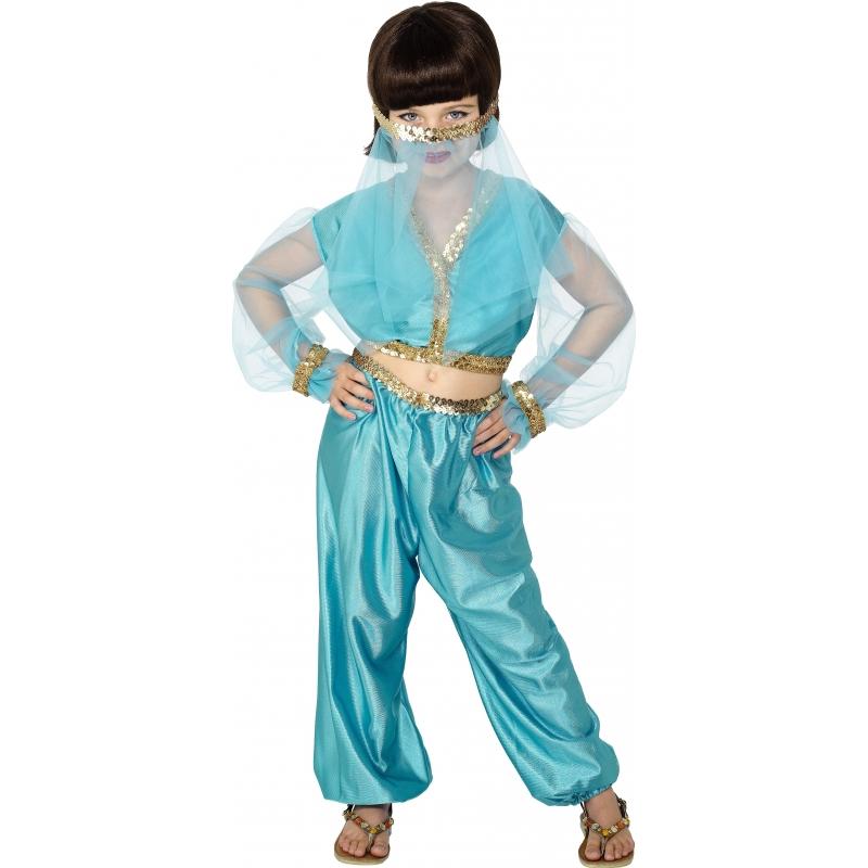 Buikdanseres kostuum voor meisjes 140-152 (9-12 jaar) Multi