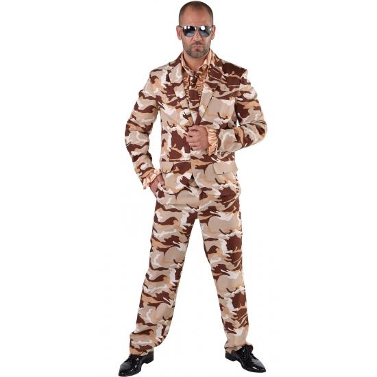 Camouflage pak 3-delig voor heren 64-66 (2XL) Multi
