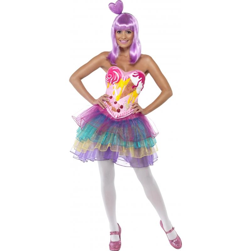 Candy Queen kostuum voor dames 40-42 (M) Multi